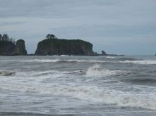 Sea Stacks, as the stone formations in the ocean are called, can be seen at Rialto and Ruby Beaches