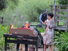 talented friends and family sang and played, many to the accompaniment of Katina's dad Brian on the piano