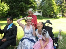 Katina's cousin Kira, her fiancé Carlos, Aunt Ginny and cousin Raina.