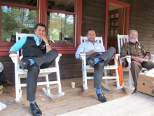 Carlos and his brother and best man Felix showing off their socks, all the groomsmen has this whimsical socks…..Mike's envious!
