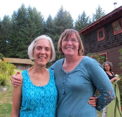 happy mom Ginny and Bernadine, family friend and interpreter supreme!