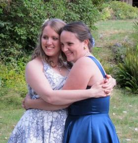 Kira and her lifelong friend/sister and bridesmaid, Eliza