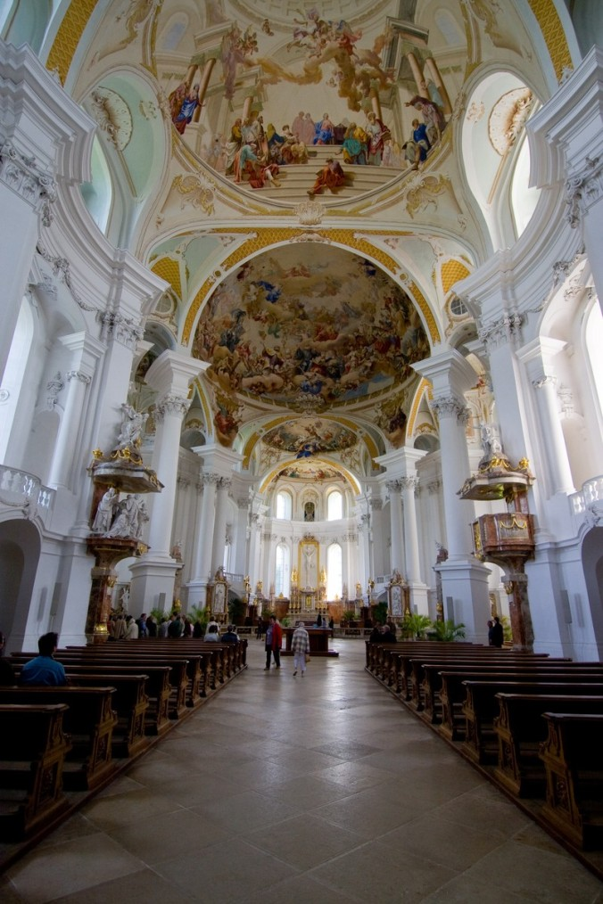 photo of Neresheim Abbey, one of the greatest baroque churches of Europe. internet.