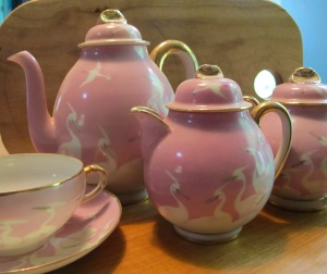 While in China as a member of the Flying Tigers during WWII Ralph bought this tea set for his mom. She no doubt treasured it, as I now do.