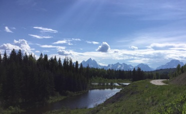 view from the east side to the Tetons in the west