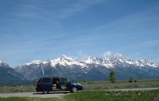 First stop in Grand Teton National Park to take in the breath taking view.