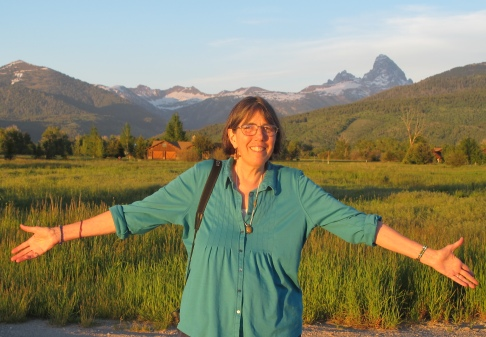 me and the Tetons from Teton Valley on the Idaho side.