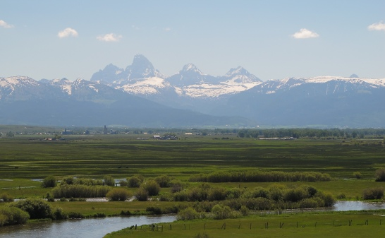 Our last view of the Tetons as we crested a hill leaving Teton Valley Idaho.