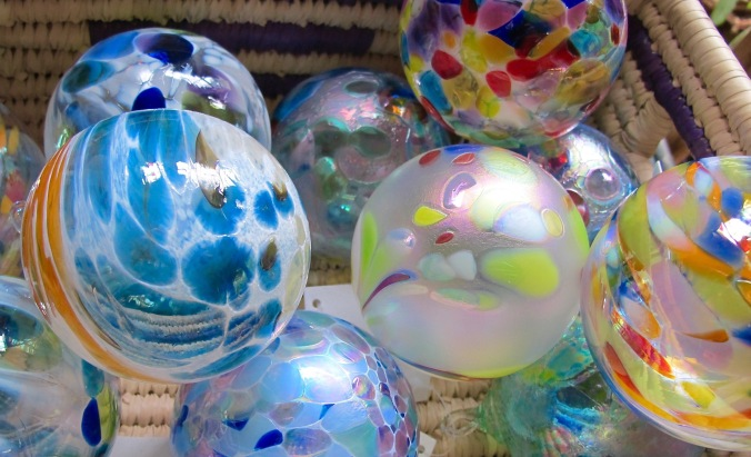 Glass ornaments by the Glass Eye Studio