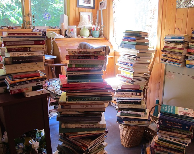 the beginnng of book sorting. About 200 books went elsewhere.