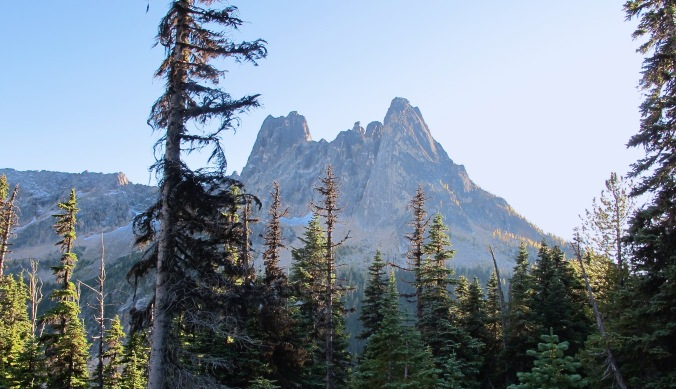 Liberty Bell mountain at Washington Pass along the North Cascade Highway