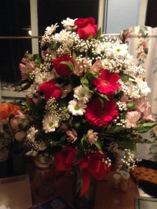 Flowers sent to my hospital room last year by the crew at Sunshine Propane.