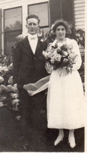 my maternal grandparents in happy days, Frank Merrithew & Emma Jo Penney on their wedding day