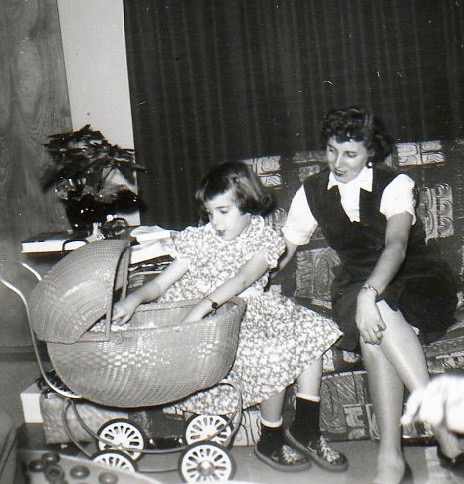 Mom and me, age 5