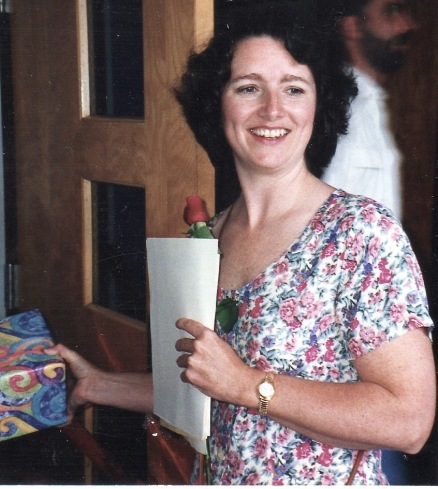Anne at her daughter's graduation, June 1996