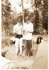 Harry & Bud Beeler checking out a snake