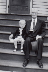 with Great Grandpa Hubbard