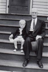 with Great Grandpa Hubbard