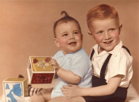 Baby Brian and big brother Kendall