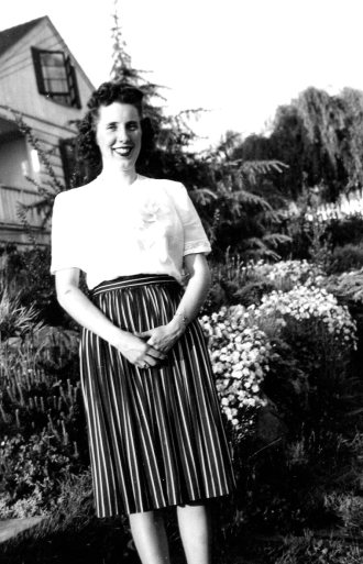 Ruth - photo to send overseas to Harry when she was pregnant