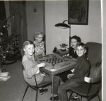 playing games with Grandma Merrithew and Elizabeth Johnson